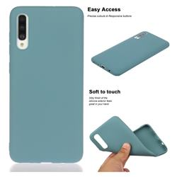 Soft Matte Silicone Phone Cover for Samsung Galaxy A70 - Lake Blue
