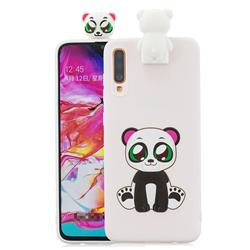 Panda Soft 3D Climbing Doll Stand Soft Case for Samsung Galaxy A70