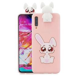 Cute Rabbit Soft 3D Climbing Doll Stand Soft Case for Samsung Galaxy A70