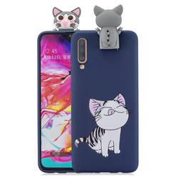 Grinning Cat Soft 3D Climbing Doll Stand Soft Case for Samsung Galaxy A70