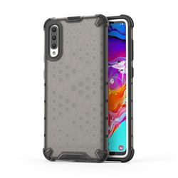 Honeycomb TPU + PC Hybrid Armor Shockproof Case Cover for Samsung Galaxy A70 - Gray