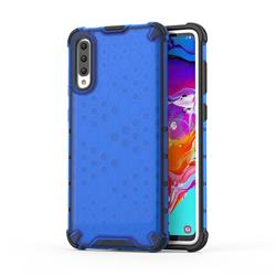 Honeycomb TPU + PC Hybrid Armor Shockproof Case Cover for Samsung Galaxy A70 - Blue