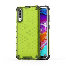 Honeycomb TPU + PC Hybrid Armor Shockproof Case Cover for Samsung Galaxy A70 - Green