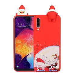 Santa Claus Elk Christmas Xmax Soft 3D Doll Silicone Case for Samsung Galaxy A70