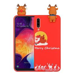 Moon Santa and Elk Christmas Xmax Soft 3D Doll Silicone Case for Samsung Galaxy A70
