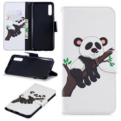 Tree Panda Leather Wallet Case for Samsung Galaxy A70