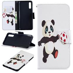 Football Panda Leather Wallet Case for Samsung Galaxy A70