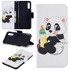 Baby Panda Leather Wallet Case for Samsung Galaxy A70
