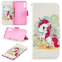 Cloud Star Unicorn Leather Wallet Case for Samsung Galaxy A70