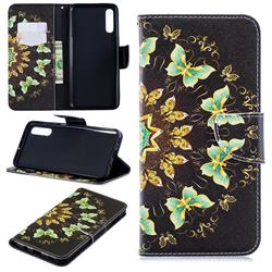 Circle Butterflies Leather Wallet Case for Samsung Galaxy A70