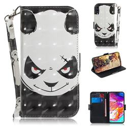 Angry Bear 3D Painted Leather Wallet Phone Case for Samsung Galaxy A70