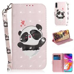 Heart Cat 3D Painted Leather Wallet Phone Case for Samsung Galaxy A70