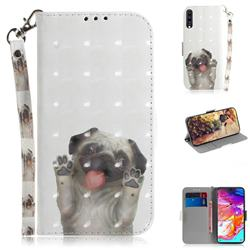 Pug Dog 3D Painted Leather Wallet Phone Case for Samsung Galaxy A70