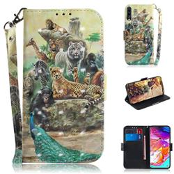 Beast Zoo 3D Painted Leather Wallet Phone Case for Samsung Galaxy A70
