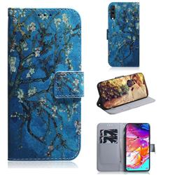 Apricot Tree PU Leather Wallet Case for Samsung Galaxy A70