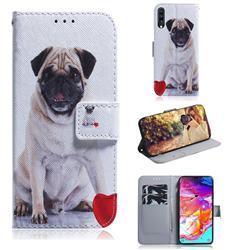 Pug Dog PU Leather Wallet Case for Samsung Galaxy A70