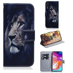 Lion Face PU Leather Wallet Case for Samsung Galaxy A70