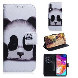 Sleeping Panda PU Leather Wallet Case for Samsung Galaxy A70