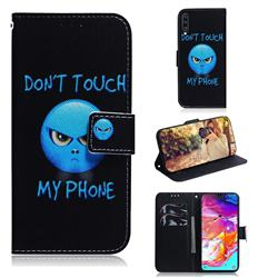 Not Touch My Phone PU Leather Wallet Case for Samsung Galaxy A70