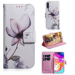Magnolia Flower PU Leather Wallet Case for Samsung Galaxy A70