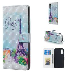 Paris Tower 3D Painted Leather Phone Wallet Case for Samsung Galaxy A70
