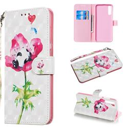 Flower Panda 3D Painted Leather Wallet Phone Case for Samsung Galaxy A70