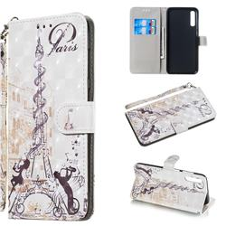 Tower Couple 3D Painted Leather Wallet Phone Case for Samsung Galaxy A70