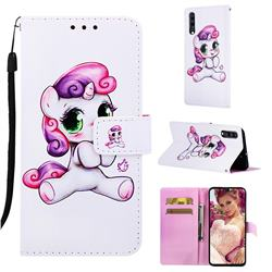 Playful Pony Matte Leather Wallet Phone Case for Samsung Galaxy A70