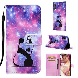 Panda Baby Matte Leather Wallet Phone Case for Samsung Galaxy A70