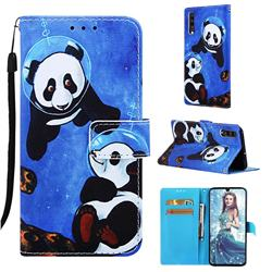Undersea Panda Matte Leather Wallet Phone Case for Samsung Galaxy A70