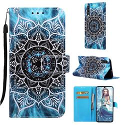 Underwater Mandala Matte Leather Wallet Phone Case for Samsung Galaxy A70
