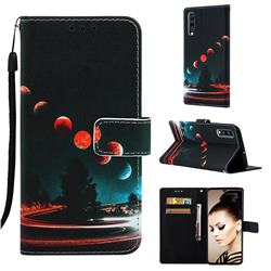 Wandering Earth Matte Leather Wallet Phone Case for Samsung Galaxy A70