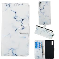 Soft White Marble PU Leather Wallet Case for Samsung Galaxy A70