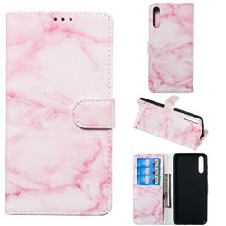 Pink Marble PU Leather Wallet Case for Samsung Galaxy A70