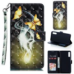 Dream Butterfly 3D Painted Leather Phone Wallet Case for Samsung Galaxy A70