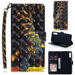 Tiger Totem 3D Painted Leather Phone Wallet Case for Samsung Galaxy A70