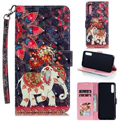 Phoenix Elephant 3D Painted Leather Phone Wallet Case for Samsung Galaxy A70
