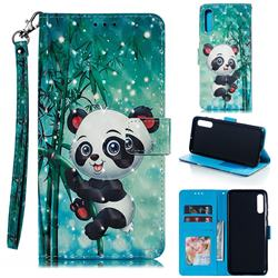 Cute Panda 3D Painted Leather Phone Wallet Case for Samsung Galaxy A70