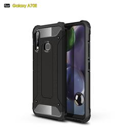 King Kong Armor Premium Shockproof Dual Layer Rugged Hard Cover for Samsung Galaxy A70e - Black Gold