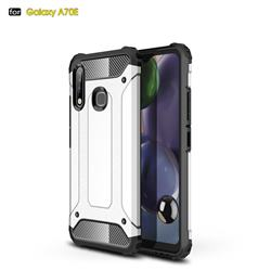 King Kong Armor Premium Shockproof Dual Layer Rugged Hard Cover for Samsung Galaxy A70e - White