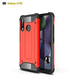 King Kong Armor Premium Shockproof Dual Layer Rugged Hard Cover for Samsung Galaxy A70e - Big Red