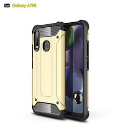 King Kong Armor Premium Shockproof Dual Layer Rugged Hard Cover for Samsung Galaxy A70e - Champagne Gold