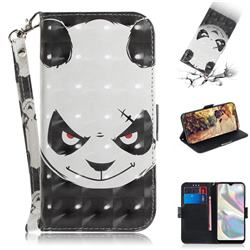 Angry Bear 3D Painted Leather Wallet Phone Case for Samsung Galaxy A70e