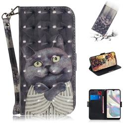 Cat Embrace 3D Painted Leather Wallet Phone Case for Samsung Galaxy A70e