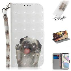Pug Dog 3D Painted Leather Wallet Phone Case for Samsung Galaxy A70e