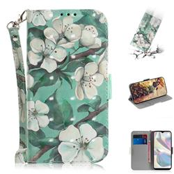 Watercolor Flower 3D Painted Leather Wallet Phone Case for Samsung Galaxy A70e