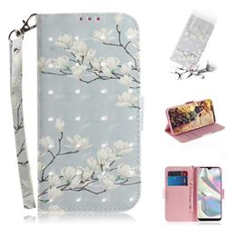 Magnolia Flower 3D Painted Leather Wallet Phone Case for Samsung Galaxy A70e