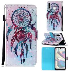 ColorDrops Wind Chimes 3D Painted Leather Wallet Case for Samsung Galaxy A70e
