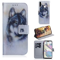 Snow Wolf PU Leather Wallet Case for Samsung Galaxy A70e