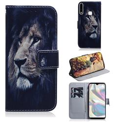 Lion Face PU Leather Wallet Case for Samsung Galaxy A70e